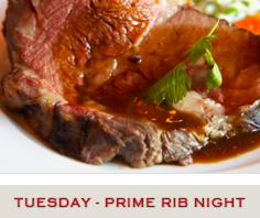 Prime Rib Night Specials