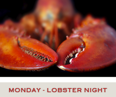 Lobster Night Specials